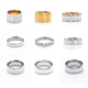 Custom Silver Gold Ring Titanium Rings Blanks Men And Women, Wholesale Simple Stainless Steel Blanks Ring For Inlay