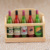 Customized Finished Rustic 6 Bottle Wood Beer Carrier
