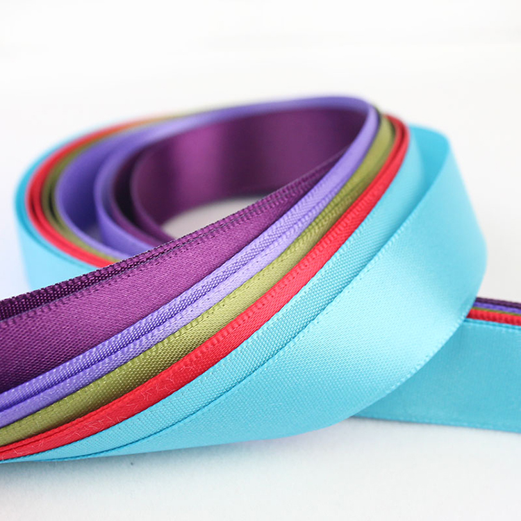 하문 Quality Wholesales Polyester 두 번 Face Satin Ribbon 16mm