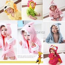S 0 2 years Retail Hooded Animal modeling Baby Bathrobe Cartoon Baby Spa Towel Character kids