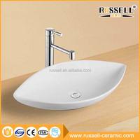 Special design bathroom counter top art types ceramic vessel sink