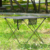 popular outdoor light metal canvas potable folding camping table with a carry bag