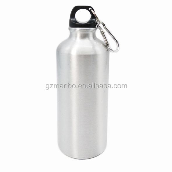 BPA Free Custom Logo Design 600ml Fashion Bicycle Sports Bottle Aluminum Water Bottle With Carabiner Clip