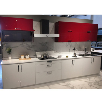 Modern Red Combine White Color High Gloss Lacquer Kitchen Cabinet Buy Kitchen Cabinet Kitchen Cabinet Kitchen Cabinet Product On Alibaba Com