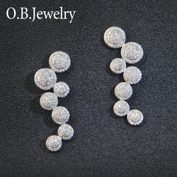 Fashion Wholesale Earrings Fine Zircon Jewelry Manufacturer China