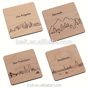 Solistar art craft wholesale carved bamboo coaster for drinking