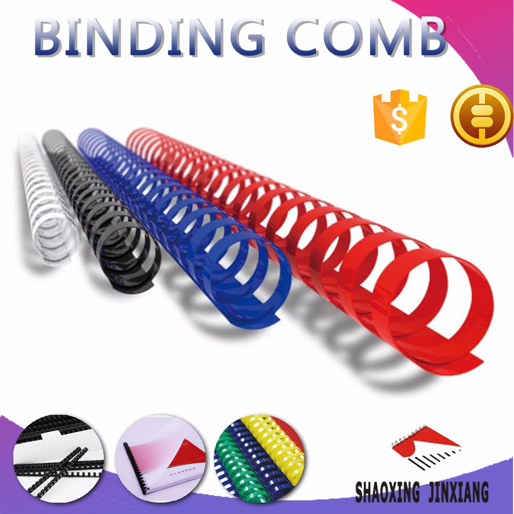 19rings round plastic colorful binding comb for office & schooll supplies