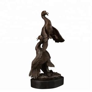 Hot Selling Bronze Flying Bird Sculptures Small Love Bird Figurines