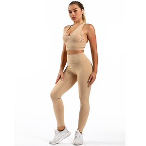 Wholesale Sexy Dry Fit Bodybuilding Ladies Girls Yoga Set OEM Custom High Quality Fitness Women Gym Wear