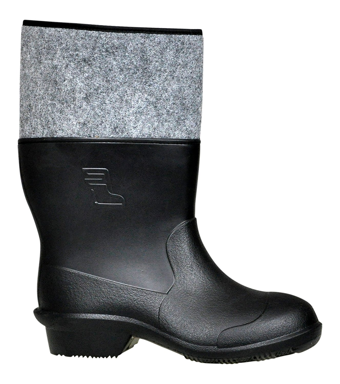 5fa63e7bd08906 Get Quotations · Lukpol Mens Waterproof Festival Wellies Gardening Rain  Boots Model-56201