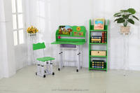 green color modern school desk and chair