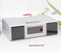 factory supply mini FM radio alarm clock with temperature