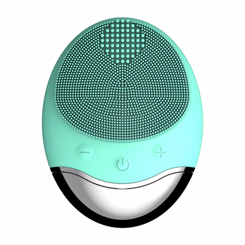 New Skin Care Device Electric Vibrating Facial Cleaner Portable Skin Massager Wireless Charging Silicone Face Cleansing Brush, N/a