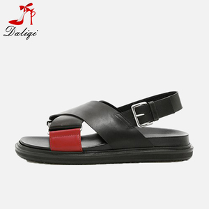 2018 new designs ladies genuine leather and pu women flat kito sandal slippers and sandals