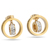 Stainless Steel Jewelry Cheap Earring Gold Plated Round Crystal Earrings for women