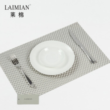 Vinyl woven placemat hot sell cheap PVC placemat