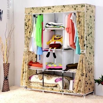 Diy Portable Folding Clothes Closet Wardrobe Armoires Storage Rack Garment Hot