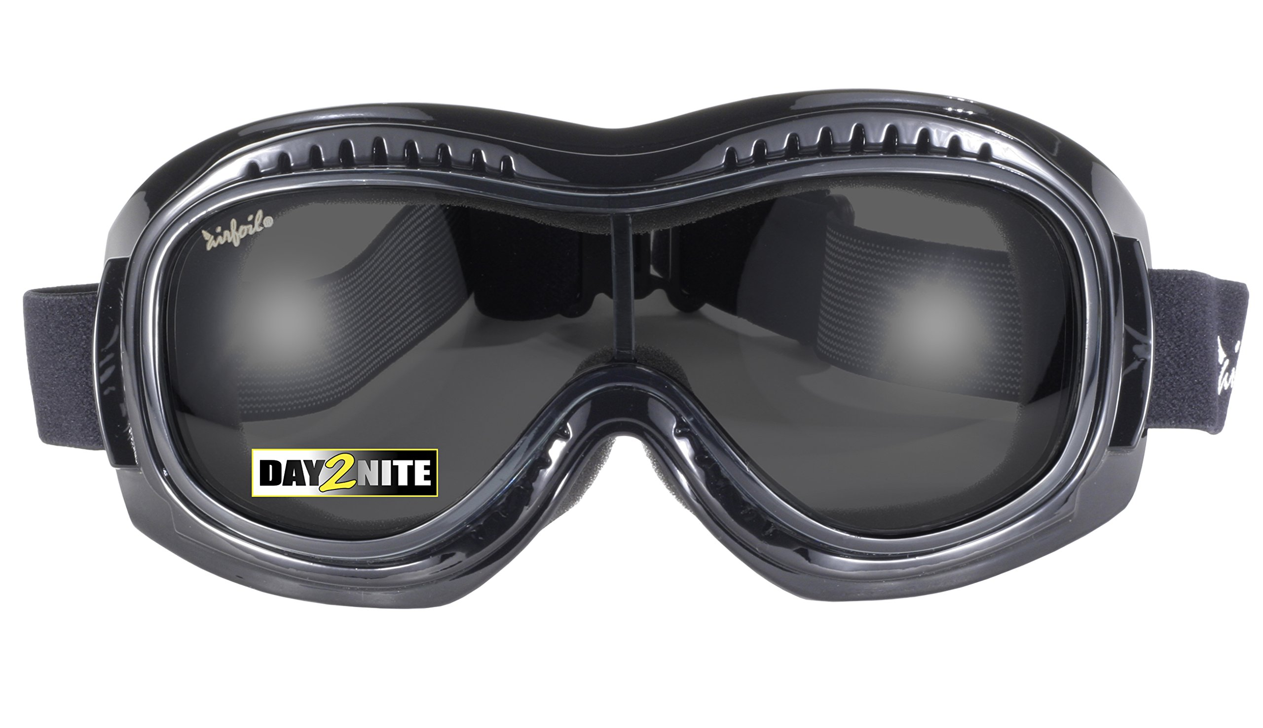 fa25cb2b028 Pacific Coast Airfoil Padded  Fit Over Glasses  Riding Goggles (Black Frame  Grey
