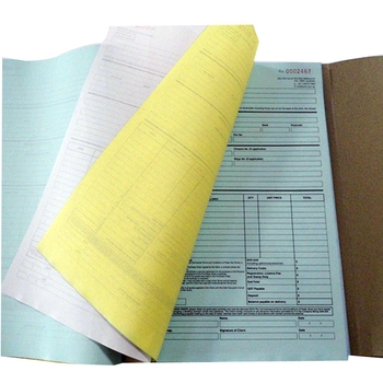 cheap A5 custom coloring carbonless invoice book printing