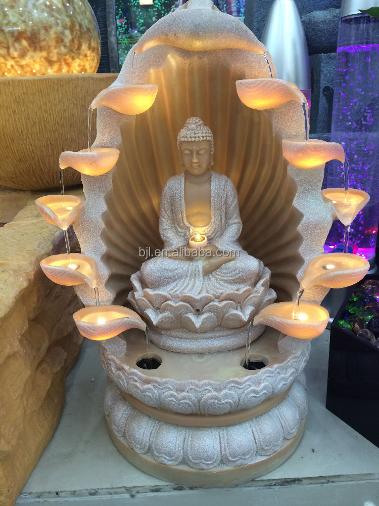 Fontaine DIntrieur Sculpture Led Lumire Table Religion Bouddha
