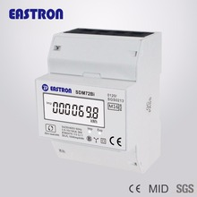 EASTRON SDM72Bi MID 3 Phase kWh Meter, DIN Rail Meter, Resettable Digital Electric kWh Meter, MID Approved