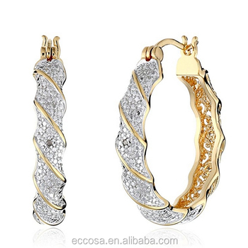 China Saudi Gold Design Earring For Women Drop 24 Carat Earrings