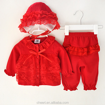 Ht Rss Western Popular Party Newborn Baby Clothes Custom Cotton Baby
