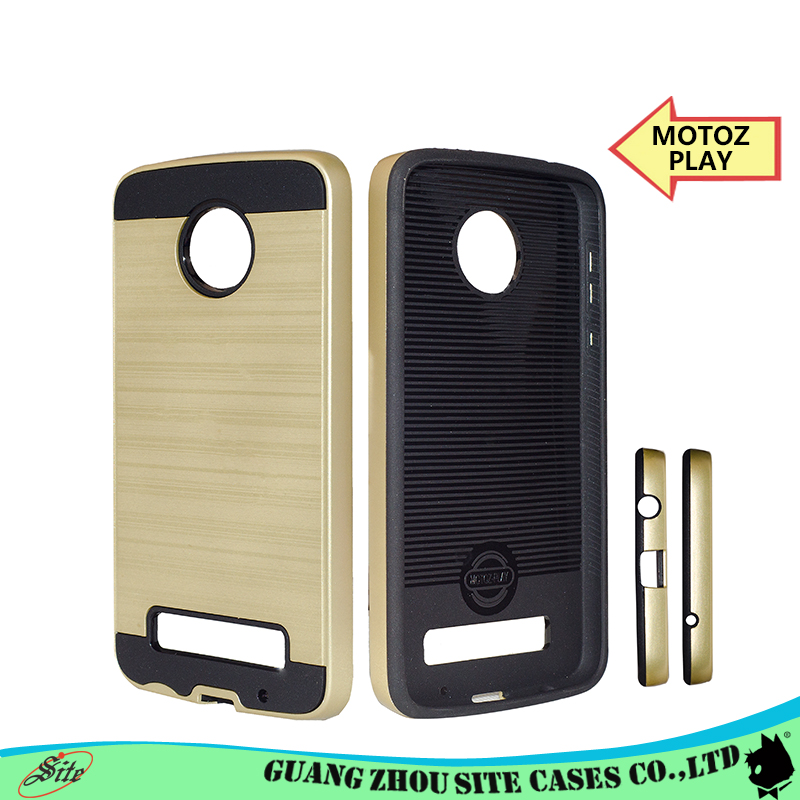 Hot selling mobile phone case brushed metal cell phone case for MOTE Z PLAY case