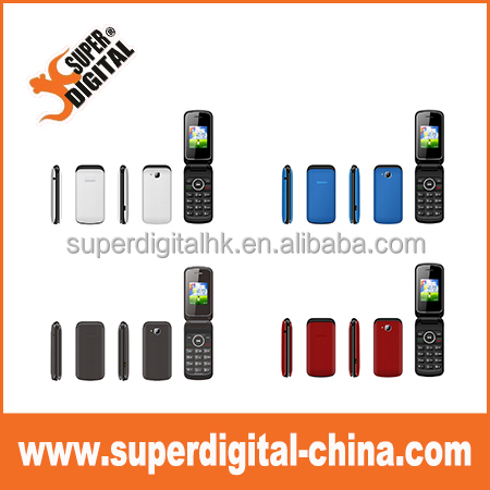 OEM 1.8 INCH TFT Flip dual sim cell mobile phone support facebook