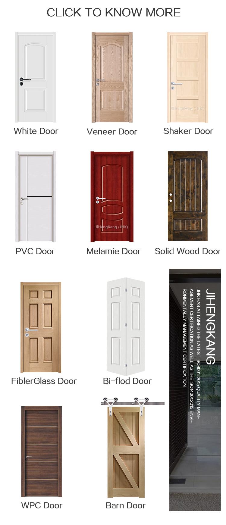 JHK-blanco de PVC de chapa de melamina de WPC de la puerta de madera