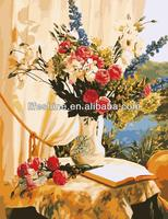 Canvas flower oil painting,acrylic paintings flowers