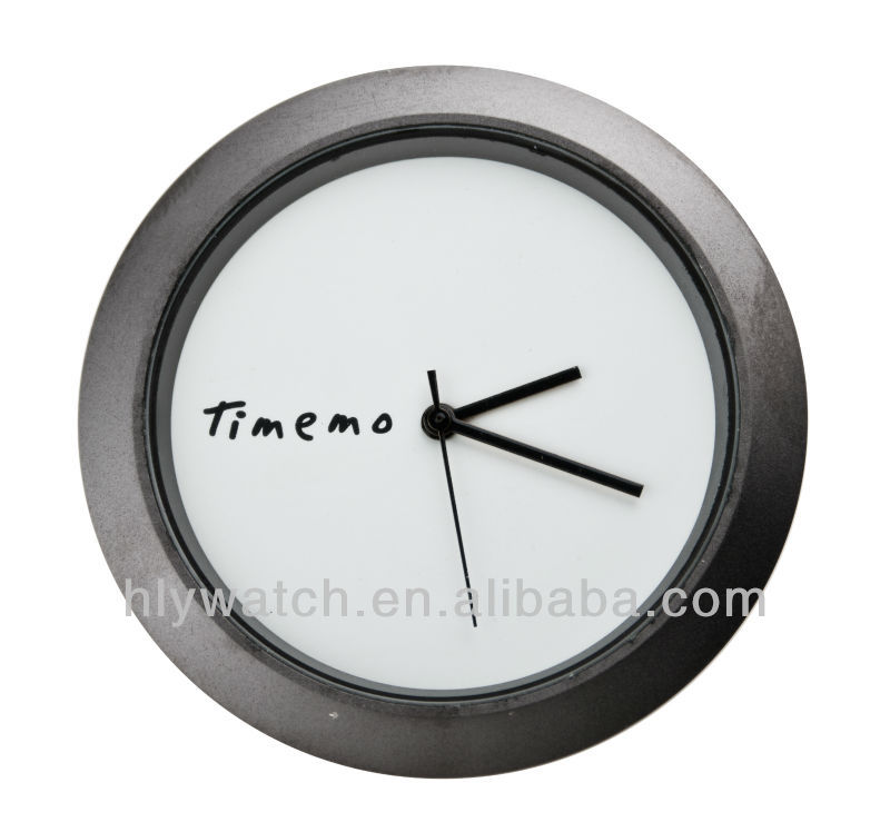 Small insert clock,round shape white dial gun color bezel mini clock insert made in China from clock insert manufacturer
