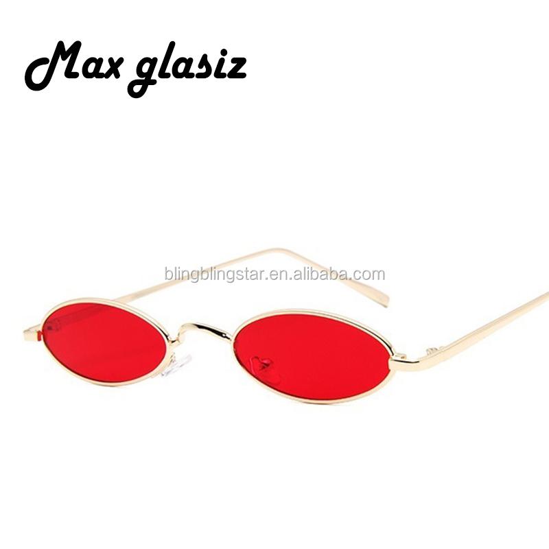 6c38f9895c 80 s Retro gafas de sol redondas de marco de Metal de los hombres y las