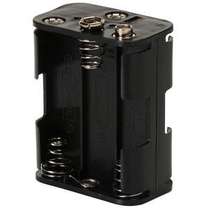 DC 9V 6AA Battery holder with BH363 standard snap connection