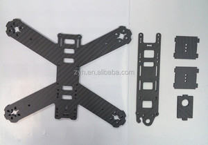 ZYH Custom Carbon fiber plate sheet3k twill weave for rc helicopter quadcopter multicopter spare parts or bottom frame