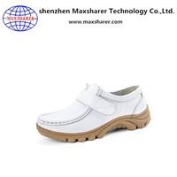 Unique wholesale products genuine leather women flat nursing shoes