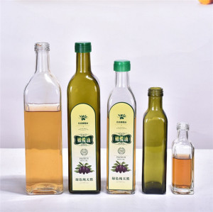 500ml 250ml empty fancy dark green cooking olive oil glass bottle with lid