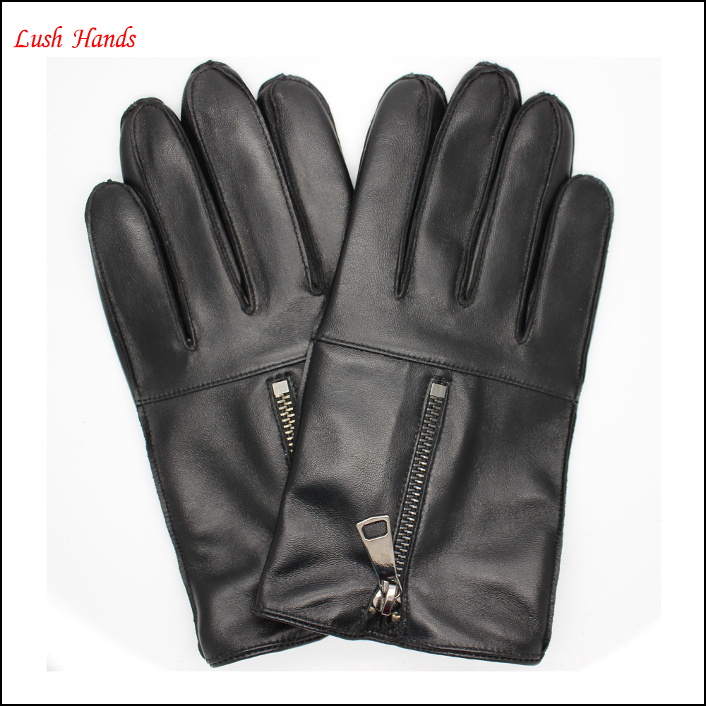Leather driving gloves with zipper - Black Leather Gloves With Zipper Black Leather Gloves With Zipper Suppliers And Manufacturers At Alibaba Com