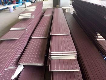 Anti Earthquake Exterior Polystyrene Foam Metal Cladding Sandwich Panel -  Buy Decorative Wall Covering Panels,Polyurethane Foam Sandwich