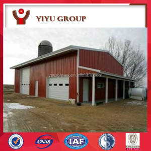 Best design steel structure barn with low cost