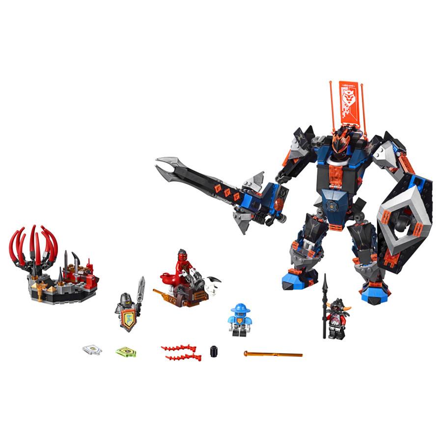 UKLego Nexo Knights Axl Black Knight Mech Combination Marvel Building Blocks Kits Toy.