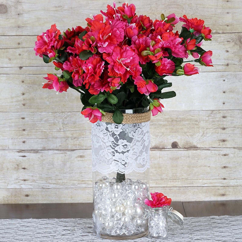 Cheap silk flowers for arrangements find silk flowers for get quotations balsacircle 120 pcs silk gardenias flowers for wedding arrangements fuchsia izmirmasajfo