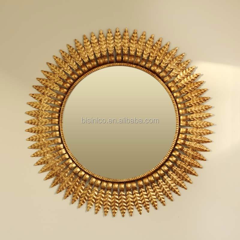 Luxury Fairy Tale Sun Shaped Wall Mirror Home Decorative Sun God Wall Hanging Mirror Bathroom Mirror Buy Pu Framed Hanging Wall Mirror Decorative Pu