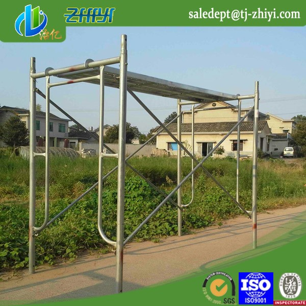 H frame scaffolding systems and scaffolding ladder