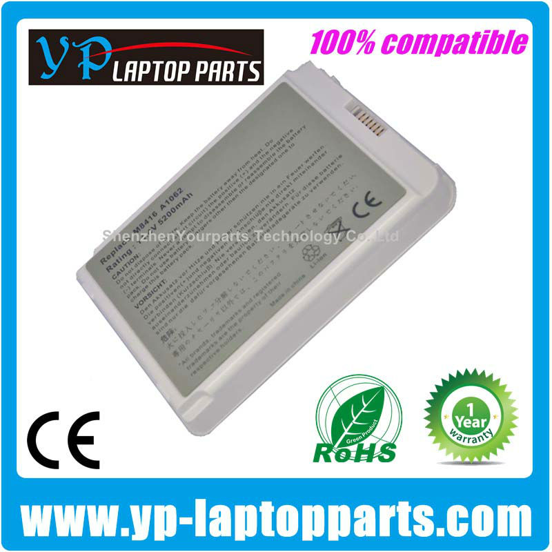 M8416J/A M8665 A1080 M8416 rechargeable laptop battery A1062 for Apple iBook G3 14 A1055 A1134 M9628 M9627 661-3699 Series