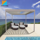 outdoor sun screen veranda overkapping waterproof louver roof