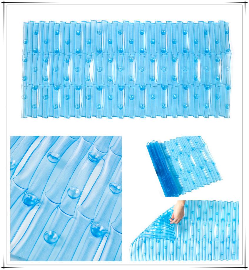 Effen Kleur Plastic Badkamer Vloermat,Veiligheid Antislip Pvc Badmat ...