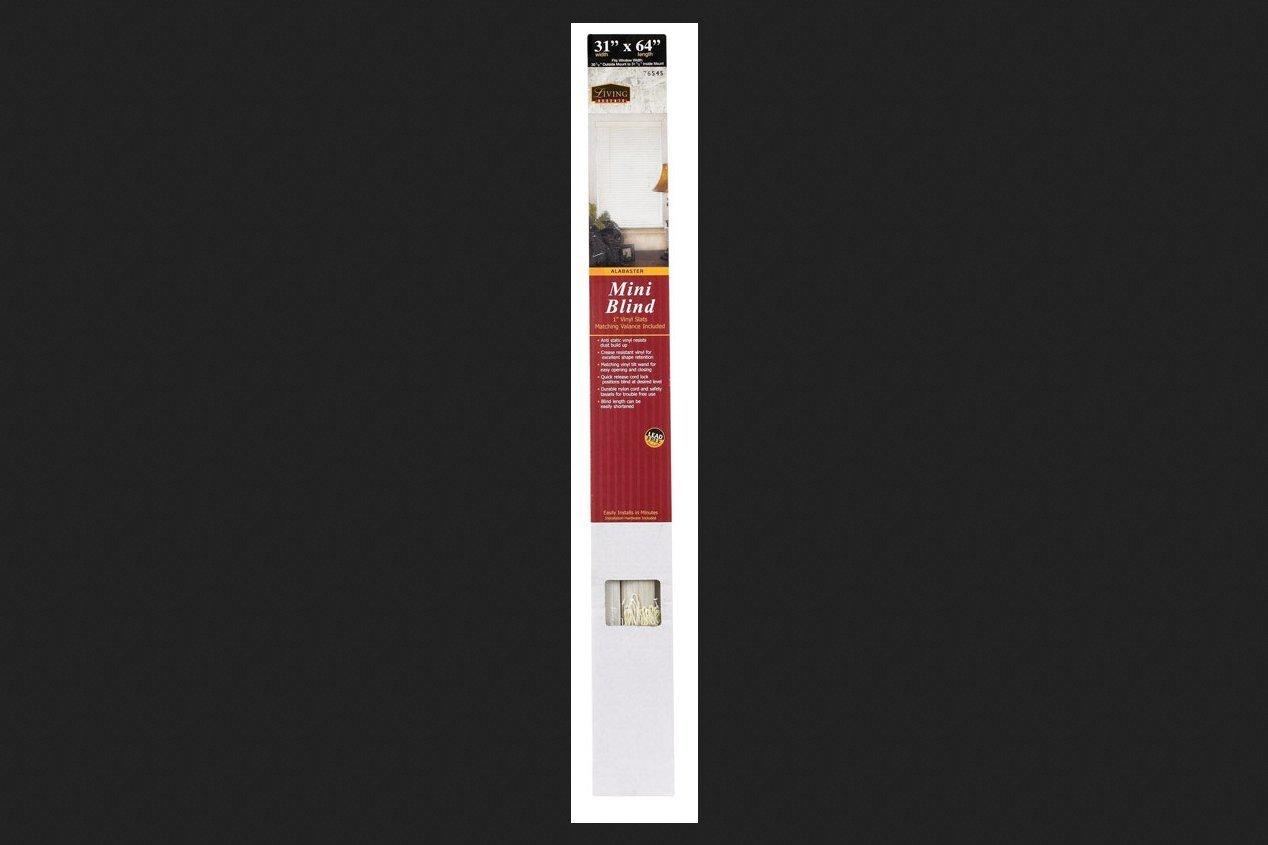 Lotus & Windoware 1-Inch PVC Miniblind, 31 by 64-Inch, Alabaster