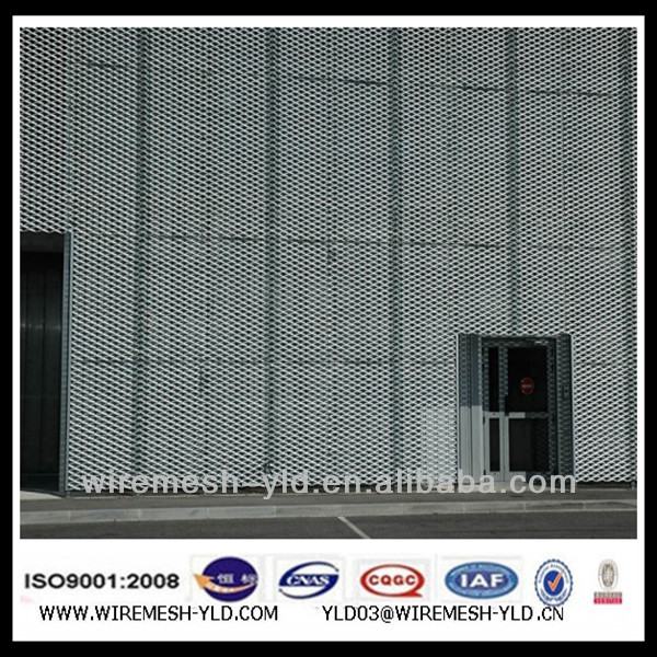 decorative aluminum expanded metal mesh wall covering panels