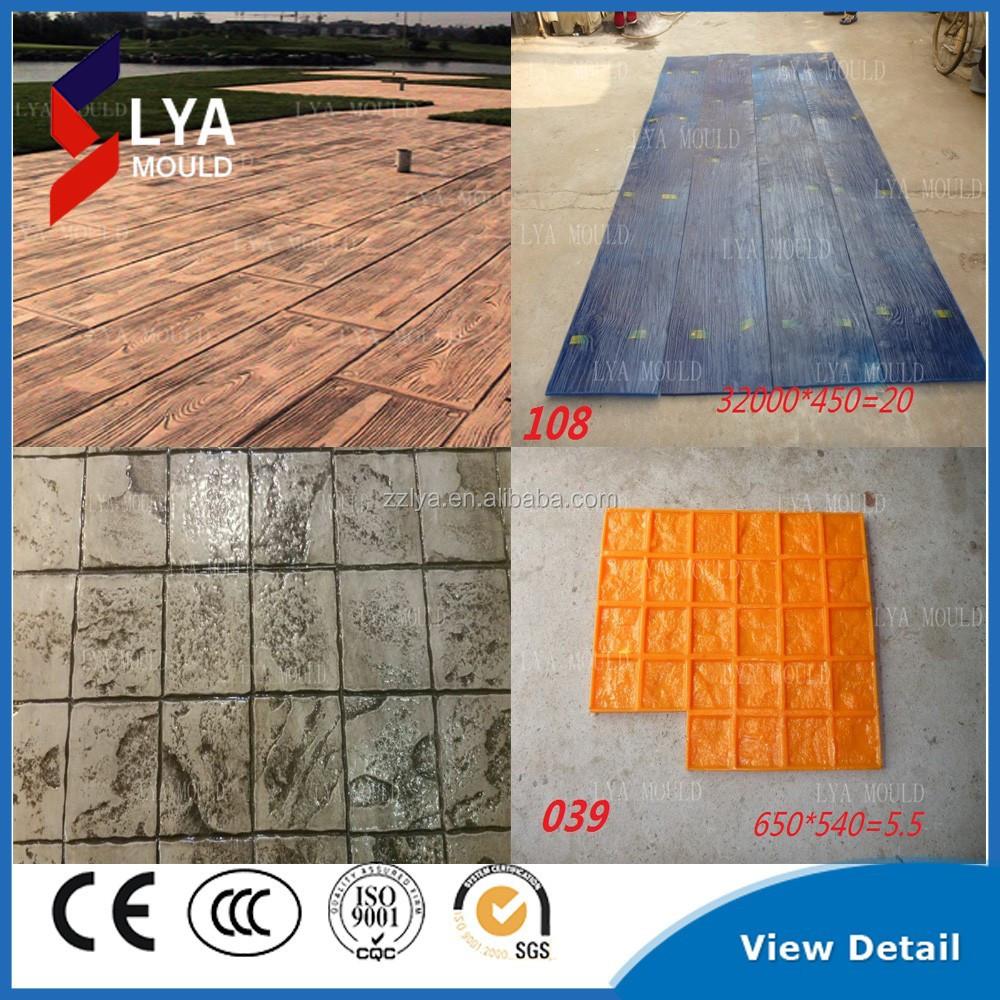 Decoratieve Betonnen Stempel Matten Rubber Vloeren Product